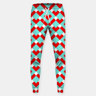 Thumbnail image of Graphic Hearts Pattern (Christmas Candy Color Palette) Sweatpants, Live Heroes