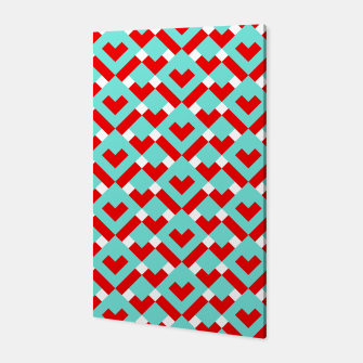 Miniatur Graphic Hearts Pattern (Christmas Candy Color Palette) Canvas, Live Heroes