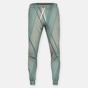 Thumbnail image of Teal blue green stripes Sweatpants, Live Heroes