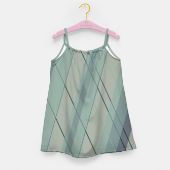 Thumbnail image of Teal blue green stripes Girl's dress, Live Heroes