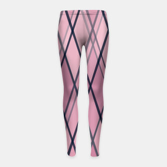 Thumbnail image of Confused Argyle Navy Purple Dusty Rose Girl's leggings, Live Heroes