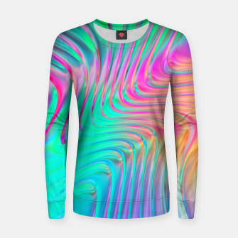 Thumbnail image of Abstract Colorful Waves  Women sweater, Live Heroes