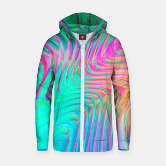 Thumbnail image of Abstract Colorful Waves  Zip up hoodie, Live Heroes