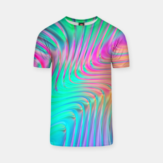 Thumbnail image of Abstract Colorful Waves  T-shirt, Live Heroes
