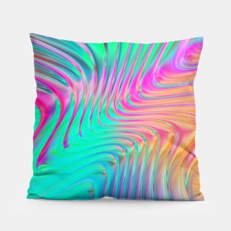 Thumbnail image of Abstract Colorful Waves  Pillow, Live Heroes
