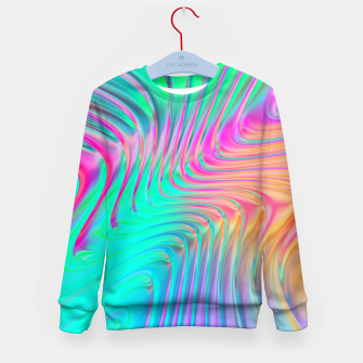 Thumbnail image of Abstract Colorful Waves  Kid's sweater, Live Heroes