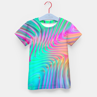 Thumbnail image of Abstract Colorful Waves  Kid's t-shirt, Live Heroes