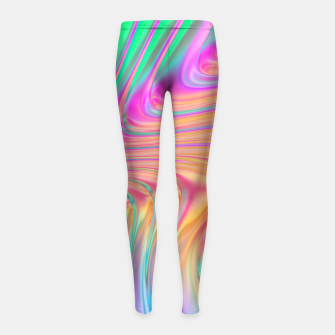 Thumbnail image of Abstract Colorful Waves  Girl's leggings, Live Heroes