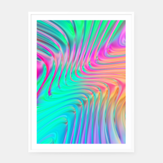 Thumbnail image of Abstract Colorful Waves  Framed poster, Live Heroes