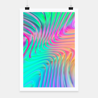Thumbnail image of Abstract Colorful Waves  Poster, Live Heroes