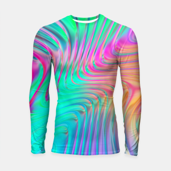 Thumbnail image of Abstract Colorful Waves  Longsleeve rashguard , Live Heroes