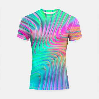 Thumbnail image of Abstract Colorful Waves  Shortsleeve rashguard, Live Heroes