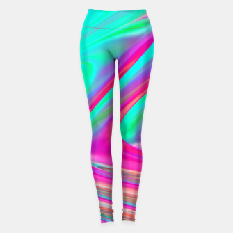 Thumbnail image of Abstract Colorful Waves  Leggings, Live Heroes