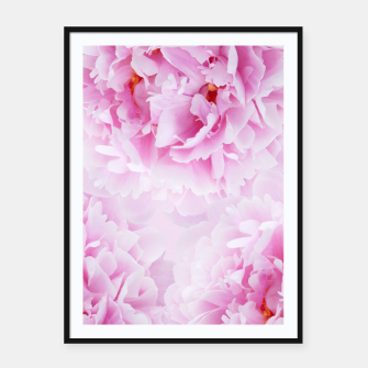 Thumbnail image of Pink Peonies Dream #1 #floral #decor #art Plakat mit rahmen, Live Heroes