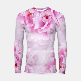 Thumbnail image of Pink Peonies Dream #1 #floral #decor #art Longsleeve rashguard, Live Heroes