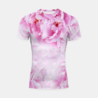 Thumbnail image of Pink Peonies Dream #1 #floral #decor #art Shortsleeve rashguard, Live Heroes