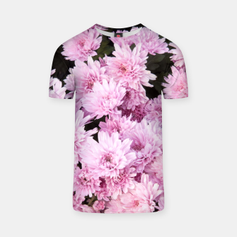 Thumbnail image of A Sea of Light Pink Chrysanthemums #1 #floral #art T-Shirt, Live Heroes