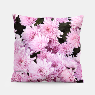 Thumbnail image of A Sea of Light Pink Chrysanthemums #1 #floral #art Kissen, Live Heroes