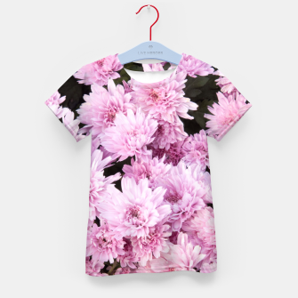 Thumbnail image of A Sea of Light Pink Chrysanthemums #1 #floral #art T-Shirt für kinder, Live Heroes