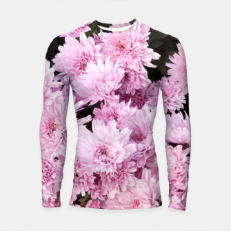 Thumbnail image of A Sea of Light Pink Chrysanthemums #1 #floral #art Longsleeve rashguard, Live Heroes
