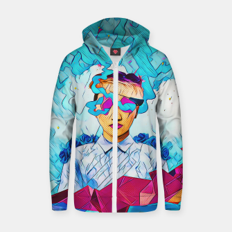 Thumbnail image of Geometric clouds Zip up hoodie, Live Heroes