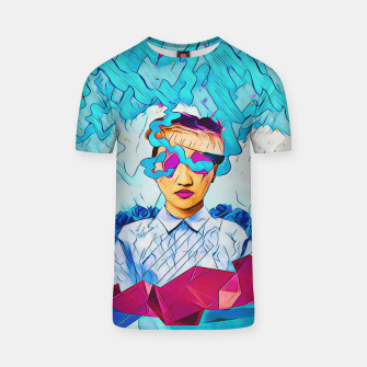 Thumbnail image of Geometric clouds T-shirt, Live Heroes