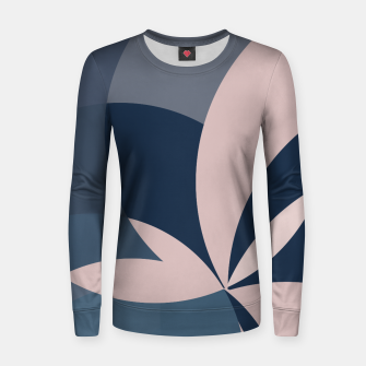 Thumbnail image of Rose Blue Butterfly Bloom Women sweater, Live Heroes
