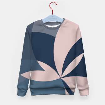 Thumbnail image of Rose Blue Butterfly Bloom Kid's sweater, Live Heroes