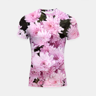 Thumbnail image of A Sea of Light Pink Chrysanthemums #1 #floral #art Shortsleeve rashguard, Live Heroes