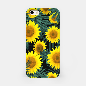 Thumbnail image of Tropical Sunflower Jungle Night Leaves Pattern #1 #tropical #decor #art iPhone-Hülle, Live Heroes