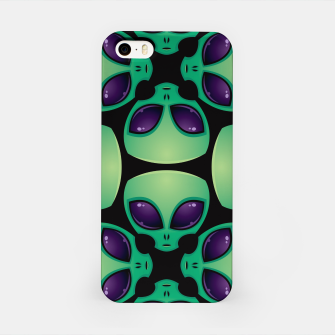 Thumbnail image of Alien Head Pattern iPhone Case, Live Heroes