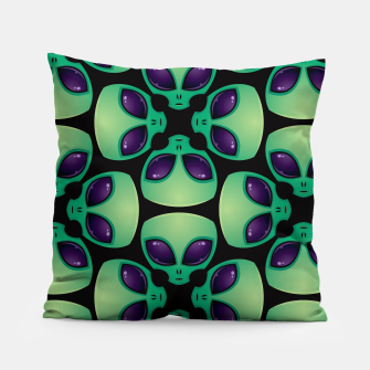 Thumbnail image of Alien Head Pattern Pillow, Live Heroes
