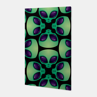 Thumbnail image of Alien Head Pattern Canvas, Live Heroes