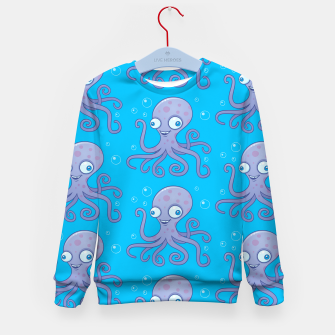 Thumbnail image of Silly Octopus Cartoon Pattern Kid's sweater, Live Heroes