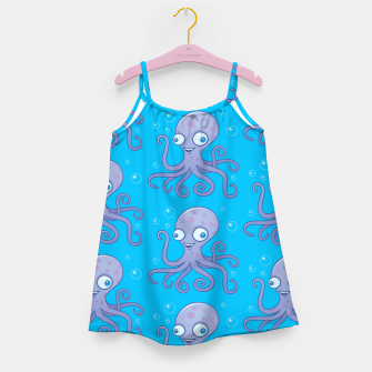 Thumbnail image of Silly Octopus Cartoon Pattern Girl's dress, Live Heroes