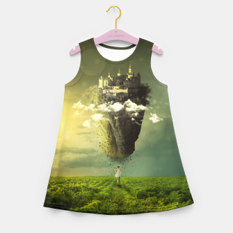 Thumbnail image of Floating Castle Girl's summer dress, Live Heroes