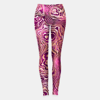 Thumbnail image of Abstract Rose Gold Marble Leggings, Live Heroes