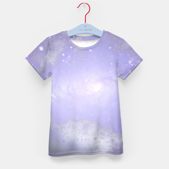 Thumbnail image of Purple Galaxy Texture T-Shirt für kinder, Live Heroes