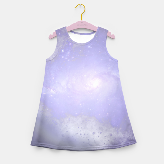 Thumbnail image of Purple Galaxy Texture Mädchen-Sommerkleid, Live Heroes