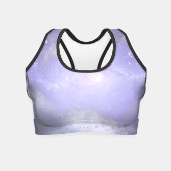 Miniaturka Purple Galaxy Texture Crop Top, Live Heroes