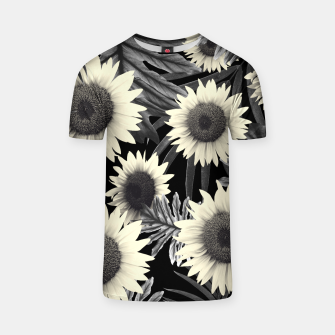 Thumbnail image of Tropical Sunflower Jungle Night Leaves Pattern #2 #tropical #decor #art  T-Shirt, Live Heroes