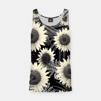 Thumbnail image of Tropical Sunflower Jungle Night Leaves Pattern #2 #tropical #decor #art  Muskelshirt , Live Heroes