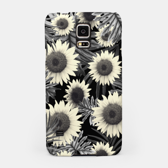 Thumbnail image of Tropical Sunflower Jungle Night Leaves Pattern #2 #tropical #decor #art  Handyhülle für Samsung, Live Heroes