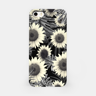 Thumbnail image of Tropical Sunflower Jungle Night Leaves Pattern #2 #tropical #decor #art  iPhone-Hülle, Live Heroes
