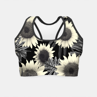 Thumbnail image of Tropical Sunflower Jungle Night Leaves Pattern #2 #tropical #decor #art  Crop Top, Live Heroes