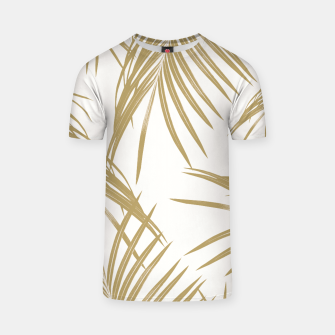 Thumbnail image of Gold Palm Leaves Dream #1 #tropical #decor #art  T-Shirt, Live Heroes