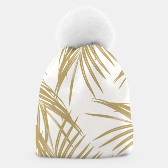 Thumbnail image of Gold Palm Leaves Dream #1 #tropical #decor #art  Mütze, Live Heroes