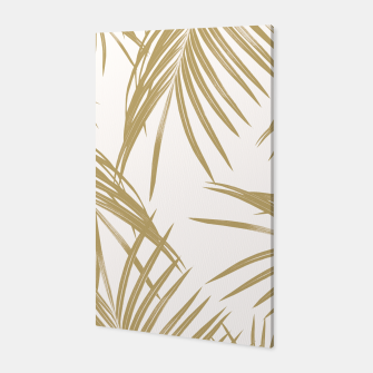 Thumbnail image of Gold Palm Leaves Dream #1 #tropical #decor #art  Canvas, Live Heroes