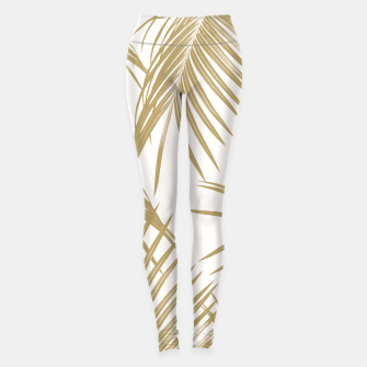 Thumbnail image of Gold Palm Leaves Dream #1 #tropical #decor #art  Leggings, Live Heroes