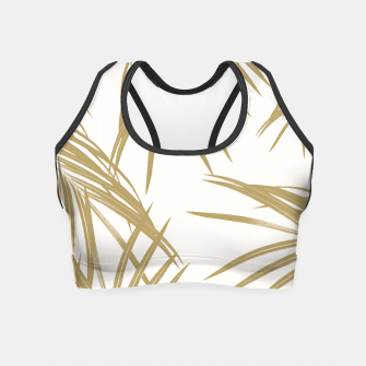 Thumbnail image of Gold Palm Leaves Dream #1 #tropical #decor #art  Crop Top, Live Heroes